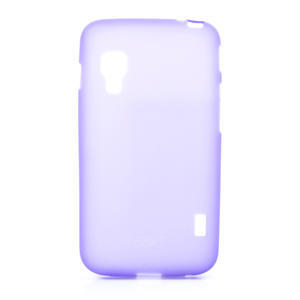 Matné gelové pouzdro pro LG Optimus L5 Dual E455-fialová - 1