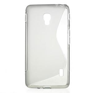 Gelové S-line pouzdro na LG Optimus F6 D505- šedé - 1