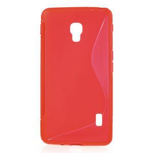 Gelové S-line pouzdro na LG Optimus F6 D505- červené - 1