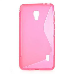 Gelové S-line pouzdro na LG Optimus F6 D505- růžové - 1
