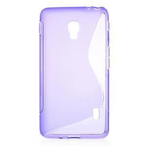 Gelové S-line pouzdro na LG Optimus F6 D505- fialové - 1