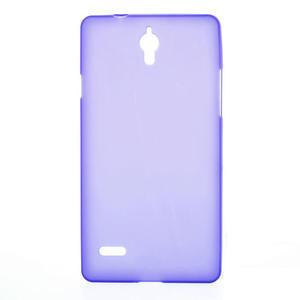 Gelové Cover pouzdro na Huawei Ascend G700- fialové