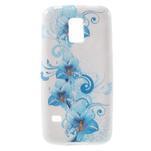 Gelové pouzdro na Samsung Galaxy S5 mini G-800- modrá lilie - 1/5