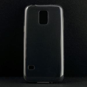 Gelové 0.6mm pouzdro na Samsung Galaxy S5 mini G-800- šedé - 1