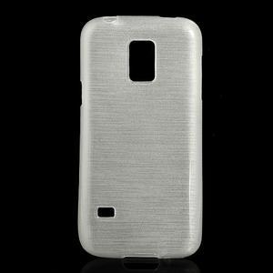 Kartáčové pouzdro na Samsung Galaxy S5 mini G-800- bílé - 1
