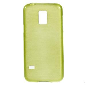 Kartáčové pouzdro na Samsung Galaxy S5 mini G-800- zelené - 1