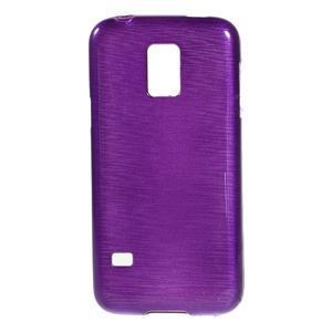 Kartáčové pouzdro na Samsung Galaxy S5 mini G-800- fialové - 1