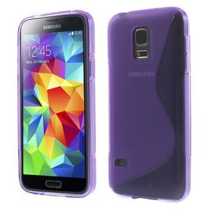 Gelové S-line pouzdro na Samsung Galaxy S5 mini G-800- fialové - 1