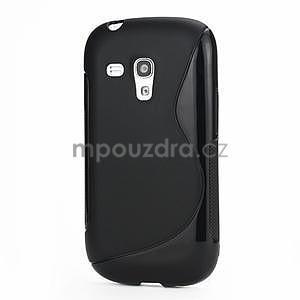 Černé gelové pouzdro pro Samsung Galaxy S3 mini / i8190 - 1
