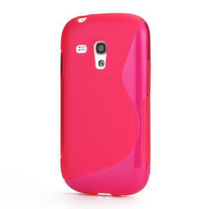 Růžové gelové pouzdro pro Samsung Galaxy S3 mini / i8190 - 1