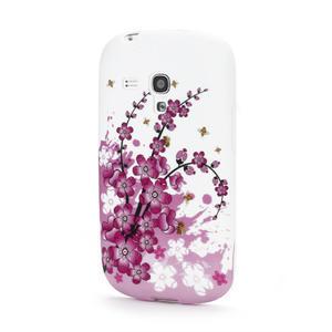 Gelové pouzdro pro Samsung Galaxy S3 mini i8190- květiny - 1