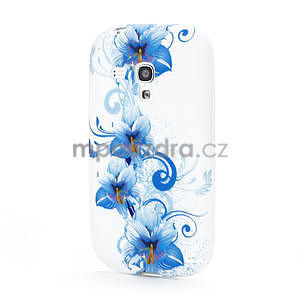 Bílé gelové pouzdro pro Samsung Galaxy S3 mini / i8190 - vzor Lily - 1