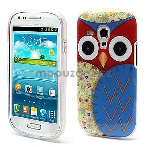 Gelové pouzdro pro Samsung Galaxy S3 mini / i8190 - modrá Sova - 1