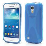 Gelové X pouzdro pro Samsung Galaxy S4 mini i9190- modré - 1/5