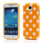 Gelový Puntík pro Samsung Galaxy S4 mini i9190- oranžové - 1/6