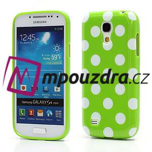 Gelový Puntík pro Samsung Galaxy S4 mini i9190- zelené - 1