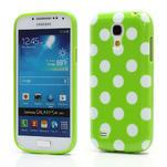 Gelový Puntík pro Samsung Galaxy S4 mini i9190- zelené - 1/7