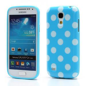 Gelový Puntík pro Samsung Galaxy S4 mini i9190- modrá - 1