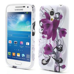 Gelové pouzdro pro Samsung Galaxy S4 mini i9190- fialové květy - 1