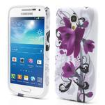 Gelové pouzdro pro Samsung Galaxy S4 mini i9190- fialové květy - 1/5