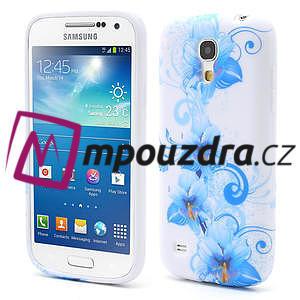 Gelové pouzdro pro Samsung Galaxy S4 mini i9190- modrá lilie - 1