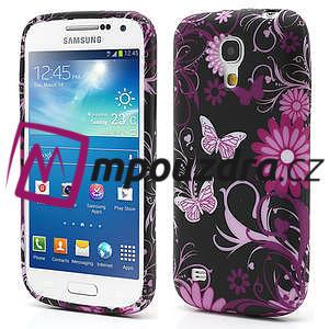 Gelové pouzdro pro Samsung Galaxy S4 mini i9190- květina-motýl - 1
