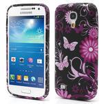 Gelové pouzdro pro Samsung Galaxy S4 mini i9190- květina-motýl - 1/5