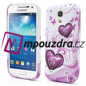 Gelové pouzdro pro Samsung Galaxy S4 mini i9190- dvě srdce - 1