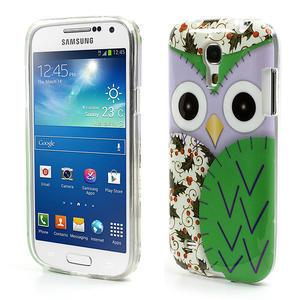 Gelové pouzdro na Samsung Galaxy S4 mini i9190- sova zelená - 1