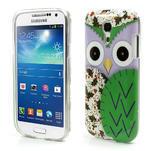 Gelové pouzdro na Samsung Galaxy S4 mini i9190- sova zelená - 1/5