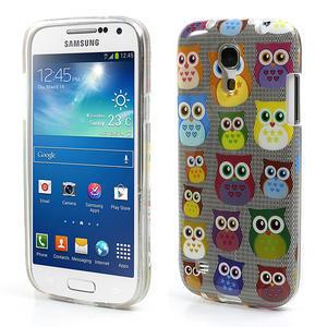 Gelové pouzdro na Samsung Galaxy S4 mini i9190- multi sovy - 1