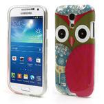 Gelové pouzdro na Samsung Galaxy S4 mini i9190- sova červená - 1/5