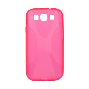 Gelové pouzdro pro Samsung Galaxy S3 i9300 - X-line růžové - 1