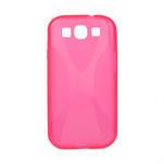 Gelové pouzdro pro Samsung Galaxy S3 i9300 - X-line růžové - 1/2