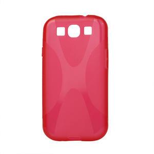 Gelové pouzdro pro Samsung Galaxy S3 i9300 - X-line červené - 1