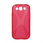 Gelové pouzdro pro Samsung Galaxy S3 i9300 - X-line červené - 1/2