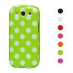 Puntíkové pouzdro pro Samsung Galaxy S3I i9300 - zelené - 1/3