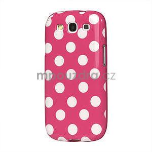 Puntíkové pouzdro pro Samsung Galaxy S3 i9300 - růžové - 1
