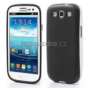 Gelové rámované pouzdro na Samsung Galaxy S3 i9300- černé - 1