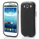 Gelové rámované pouzdro na Samsung Galaxy S3 i9300- černé - 1/6