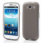 Gelové rámované pouzdro na Samsung Galaxy S3 i9300- šedé - 1/7