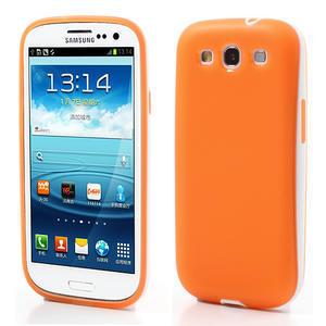 Gelové rámované pouzdro na Samsung Galaxy S3 i9300- oranžové - 1
