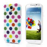 Gelové Puntík pouzdro na Samsung Galaxy S4 i9500- bílobarevné - 1/5