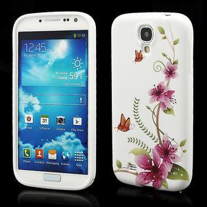 Gelové pouzdro pro Samsung Galaxy S4 i9500- kvetoucí květ - 1
