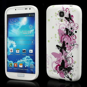Gelové pouzdro pro Samsung Galaxy S4 i9500- vlající motýl - 1