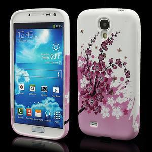 Gelové pouzdro pro Samsung Galaxy S4 i9500- kvetoucí švestka - 1