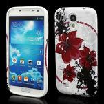 Gelové pouzdro pro Samsung Galaxy S4 i9500- červený květ - 1/7