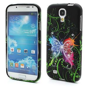 Gelové pouzdro pro Samsung Galaxy S4 i9500- barevný motýl - 1