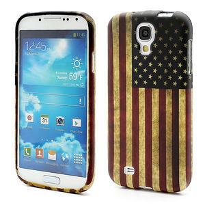 Gelové pouzdro pro Samsung Galaxy S4 i9500- Americká vlajka - 1