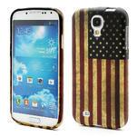 Gelové pouzdro pro Samsung Galaxy S4 i9500- Americká vlajka - 1/5